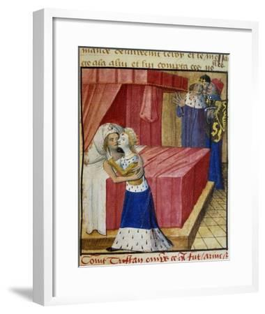 The Death of the Lovers. Queen Iseult Kissing Her Lover--Framed Giclee Print