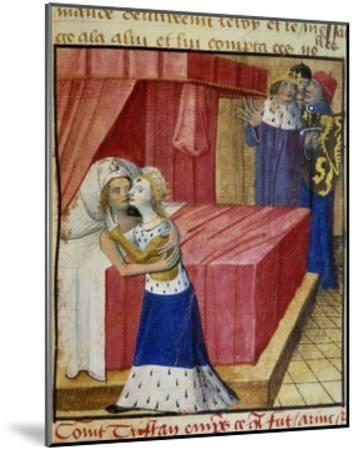 The Death of the Lovers. Queen Iseult Kissing Her Lover--Mounted Giclee Print