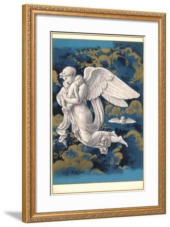 Night Angel with Children-Found Image Press-Framed Giclee Print