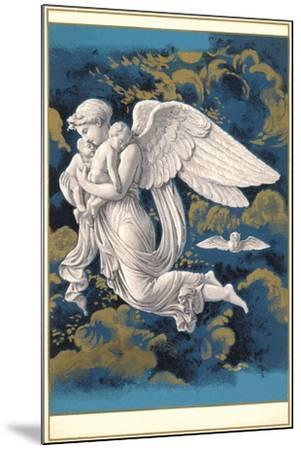 Night Angel with Children-Found Image Press-Mounted Giclee Print