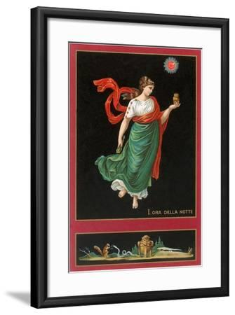 First Hour of the Night, Woman with Owl-Found Image Press-Framed Giclee Print
