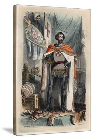Portrait of Baldwin I of Constantinople-Stefano Bianchetti-Stretched Canvas Print