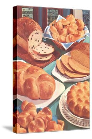 Rolls and Breads-Found Image Press-Stretched Canvas Print
