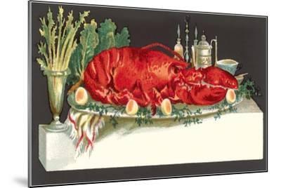 Huge Lobster on Serving Platter-Found Image Press-Mounted Giclee Print