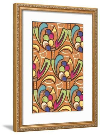 Abstract Pattern-Found Image Press-Framed Giclee Print