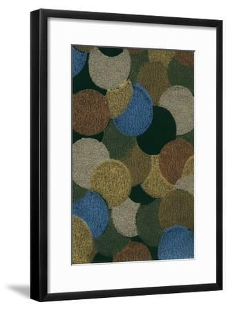 Textured Circles-Found Image Press-Framed Giclee Print