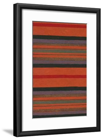 Lined Rug Pattern-Found Image Press-Framed Giclee Print