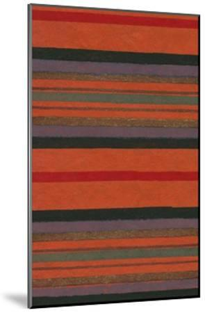 Lined Rug Pattern-Found Image Press-Mounted Giclee Print