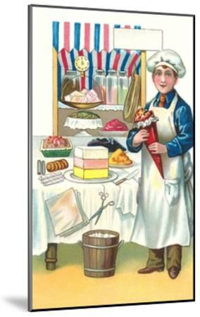Boy with Various Desserts-Found Image Press-Mounted Giclee Print