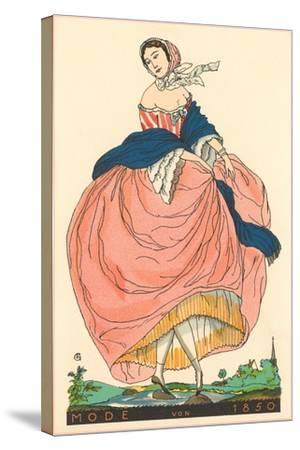 European Women's Fashion, 1850-Found Image Press-Stretched Canvas Print