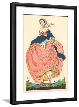 European Women's Fashion, 1850-Found Image Press-Framed Giclee Print