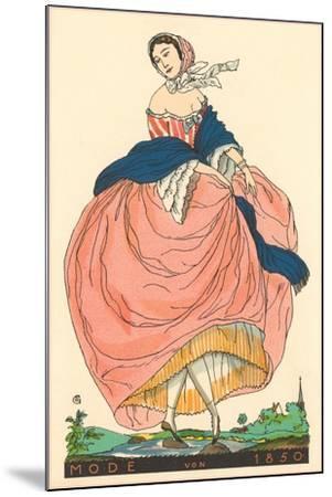 European Women's Fashion, 1850-Found Image Press-Mounted Giclee Print