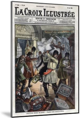 Peasant's Riot during the 1905'S Revolution-Stefano Bianchetti-Mounted Giclee Print