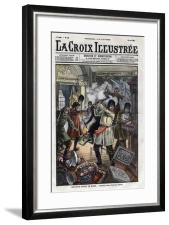 Peasant's Riot during the 1905'S Revolution-Stefano Bianchetti-Framed Giclee Print