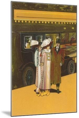 French Women's Fashion-Found Image Press-Mounted Giclee Print