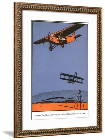 Bi-Plane and Monoplane-Found Image Press-Framed Giclee Print