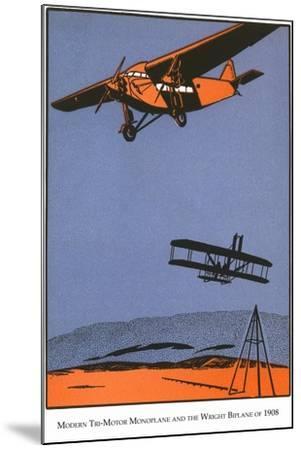 Bi-Plane and Monoplane-Found Image Press-Mounted Giclee Print