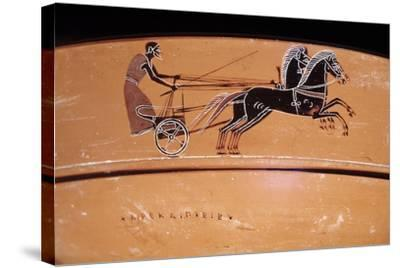 Etruscan Art: a Chariot Drawn by Two Horses (On a Vase)--Stretched Canvas Print