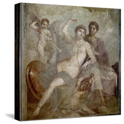 Roman Art : Ares, Aphrodite and Eros--Stretched Canvas Print
