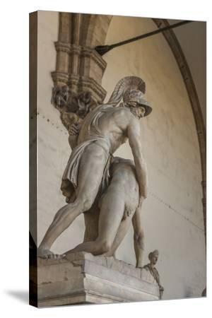 Piazza Signoria, Loggia Dei Lanzi, Patroclo E Menelao-Guido Cozzi-Stretched Canvas Print