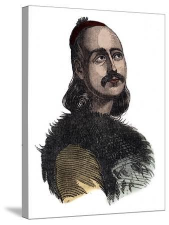Greek General Markos Botzaris-Stefano Bianchetti-Stretched Canvas Print