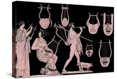 Lyre and Cithara-Stefano Bianchetti-Stretched Canvas Print