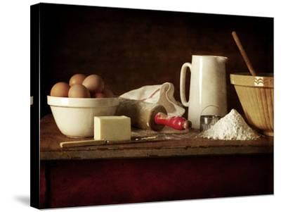 Ingredients and Utensils for Baking-Steve Lupton-Stretched Canvas Print