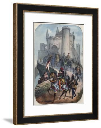 Departure of the Lombards for the First Crusade-Stefano Bianchetti-Framed Giclee Print
