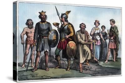 Saxon Warrior-Stefano Bianchetti-Stretched Canvas Print