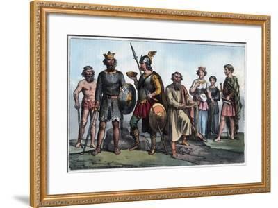 Saxon Warrior-Stefano Bianchetti-Framed Giclee Print