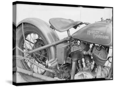 1929 Harley-Davidson Motorcycle-Dick Whittington Studio-Stretched Canvas Print