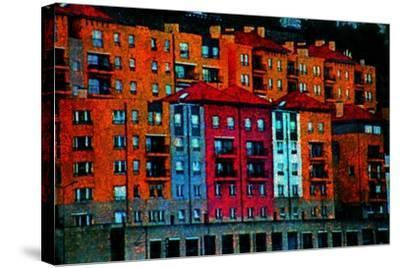 Colored Buildings-Andr? Burian-Stretched Canvas Print