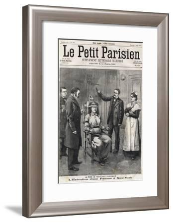 Death Penalty by Electrocution 1899-Stefano Bianchetti-Framed Giclee Print