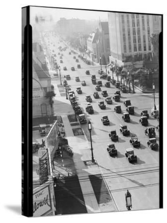 Los Angeles Street Scene-Dick Whittington Studio-Stretched Canvas Print