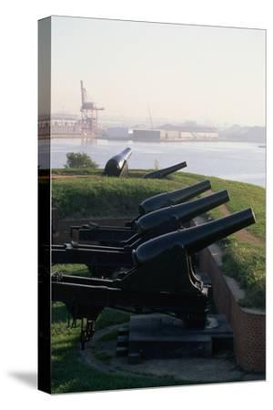Cannons at Fort Mchenry-Paul Souders-Stretched Canvas Print