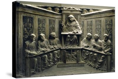Teaching at the University, from the Tomb of P.Canonici--Stretched Canvas Print