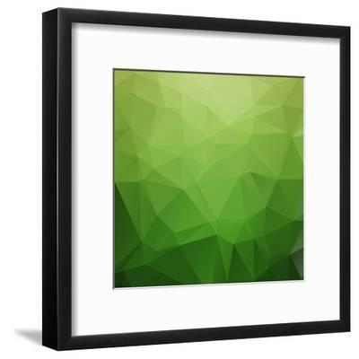 Abstract Retro Triangle Background-strizh-Framed Art Print