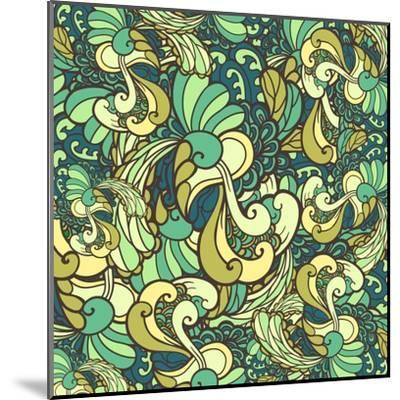 Vector Texture with Abstract Plants.-Marylia-Mounted Art Print