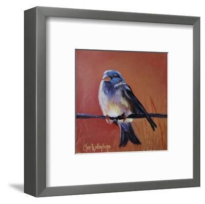 Bird on a Barb-Cheri Wollenberg-Framed Art Print