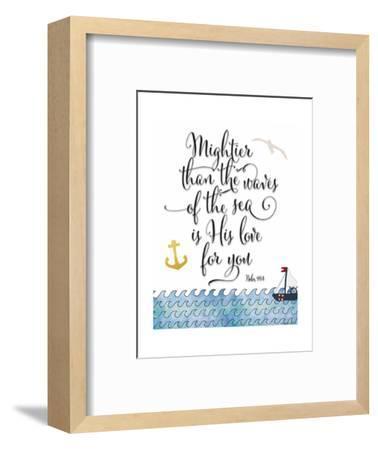 Psalm 93 4 Mightier Than the Waves-Tara Moss-Framed Premium Giclee Print