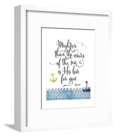 Psalm 93 4 Mightier Than the Waves-Tara Moss-Framed Art Print