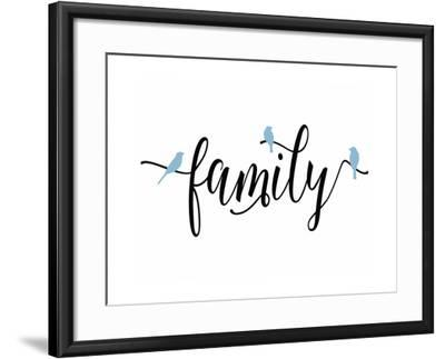 Family Blue Birds-Tara Moss-Framed Art Print