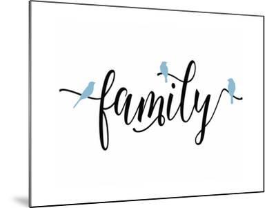 Family Blue Birds-Tara Moss-Mounted Art Print
