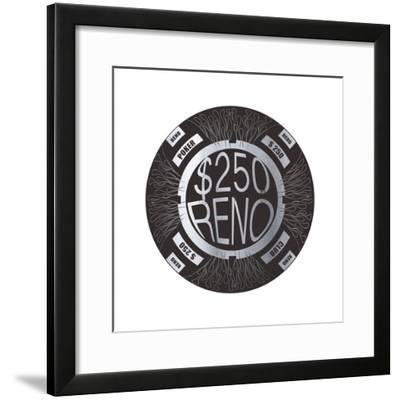 Pokerchip $250, 2015-Francois Domain-Framed Giclee Print