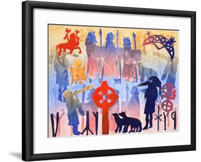 Rainbow Days, 2000-Gloria Wallington-Framed Giclee Print