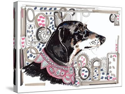 Lacey the Dachshund, 2013-Jo Chambers-Stretched Canvas Print