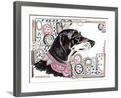 Lacey the Dachshund, 2013-Jo Chambers-Framed Giclee Print