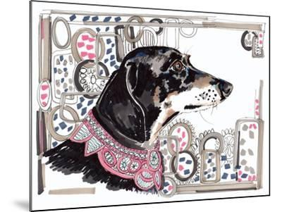 Lacey the Dachshund, 2013-Jo Chambers-Mounted Giclee Print
