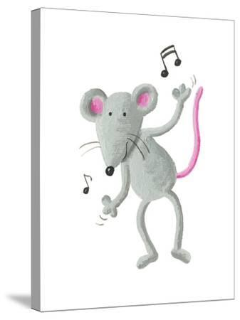 Dancing Mouse-andreapetrlik-Stretched Canvas Print