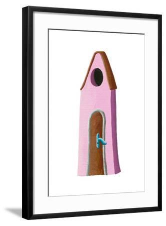 Pink House-andreapetrlik-Framed Art Print